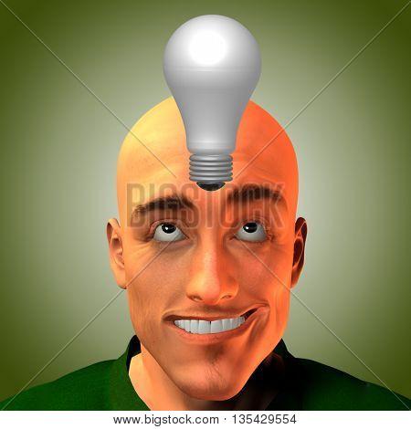 Man innovates 3D Render