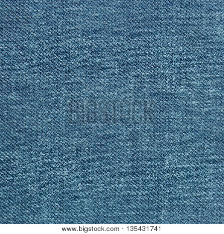Closeup detail of blue fabric texture background