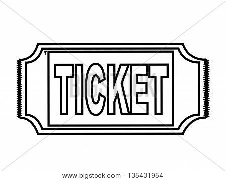 ticket stub isolated icon design, vector illustration  graphic