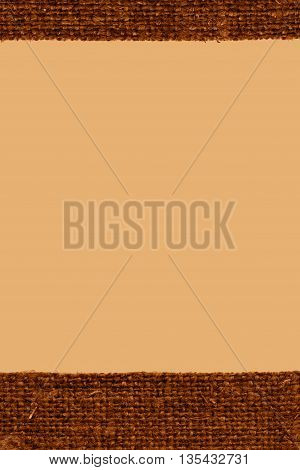 Textile surface fabric industry fawn canvas grained material closeup background