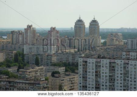 Ukraine. Kiev. Obolon District  on the banks of the Dnieper River.