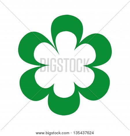 beutiful green flower isolated icon design, vector illustration  graphic