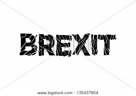 Word Brexit The Two Options And The Date Of The Referendum Of The Permanence Of United Kingdom In Th