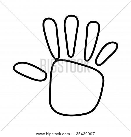 hand print  isolated icon design, vector illustration  graphic