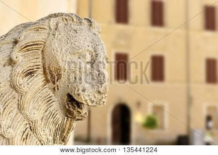 Lion Statue In Italy