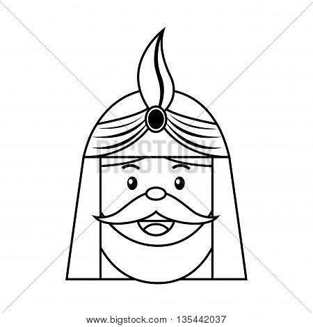 King wizard icon epiphany isolated  design, vector illustration  graphic