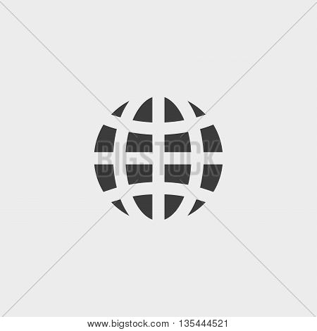 globe icon Car Icon in a flat design in black color. Vector illustration eps10