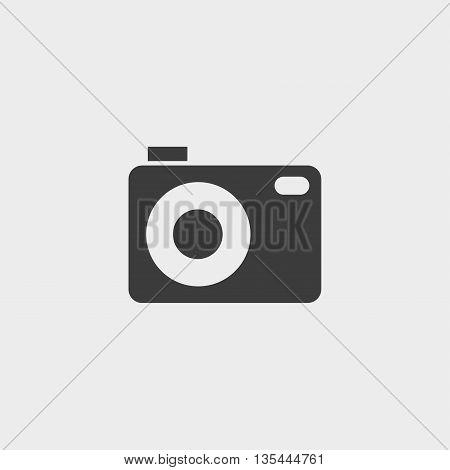 camera icon Car Icon in a flat design in black color. Vector illustration eps10