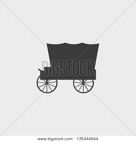 Carriage icon Car Icon in a flat design in black color. Vector illustration eps10