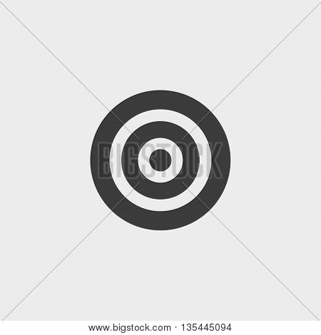 Target Icon Car Icon in a flat design in black color. Vector illustration eps10
