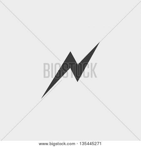 Lightning icon Car Icon in a flat design in black color. Vector illustration eps10