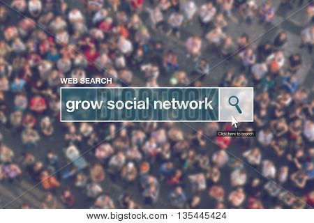 Grow social network - web search bar glossary term in internet glossary.