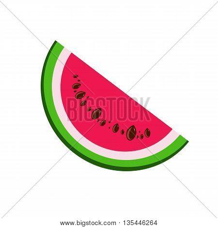 Watermelon Icon Vector Watermelon Icon Flat Watermelon Icon Sign Watermelon Icon App Watermelon Icon Art.Slice of watermelon in vector.