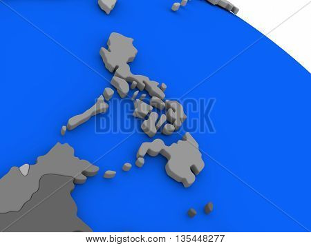 Philippines On Political Earth Model