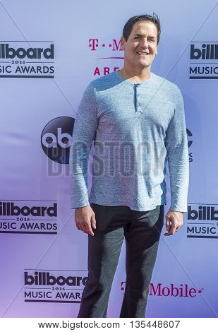 LAS VEGAS - MAY 22 : Businessman Mark Cuban attends the 2016 Billboard Music Awards at T-Mobile Arena on May 22 2016 in Las Vegas Nevada.