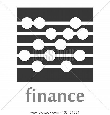 Abacus logo rendered in grey and white shapes above the word Finance in grey text