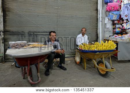 SHIRAZ - APRIL 14: Unknown people trades fruits in a market (Vakil Bazaar) in Shiraz Iran on April 14 2015. Vakil Bazaar is the most important tourist attraction in Shiraz Iran.