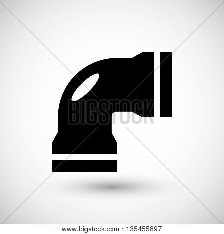 Water pipe icon isolated on grey. Vector illustration