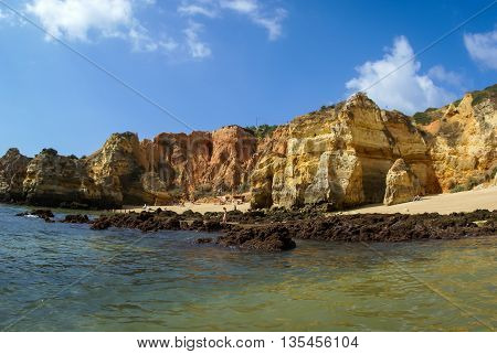 Image of scenic beach at Lagos, Portugal