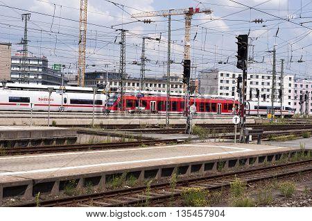 NURNBERG /GERMANY - JULY 17th 2014: photo of Nurnberg train station in Germany