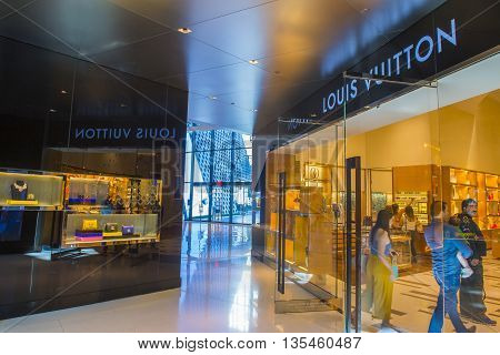 LAS VEGAS - MAY 21 : Exterior of a Louis Vuitton store in Las Vegas strip on May 21 2016. The Louis Vuitton company operates in 50 countries with more than 460 stores worldwide