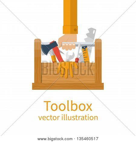 Repairman Holding Toolbox