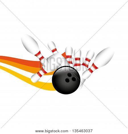 bowling sport design, vector illustration eps10 graphic