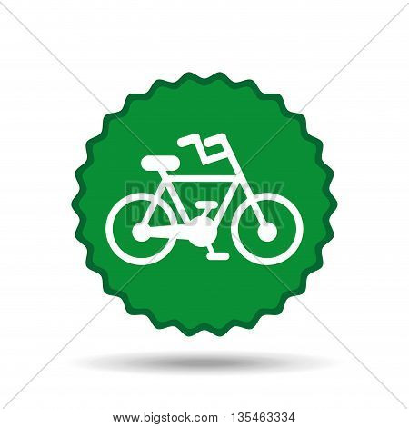 bicycle seal  design, vector illustration eps10 graphic