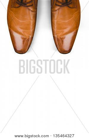 Dress shoes against white background