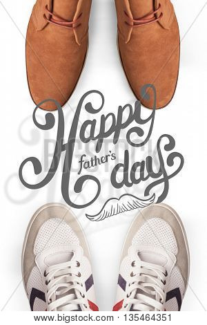 fathers day greeting against focus of dress shoes