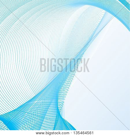 Bitmap background illustration with slick flowing lined pattern and room for design elements
