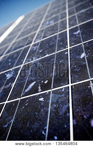 detail of a photovoltaic panel for renewable electric production