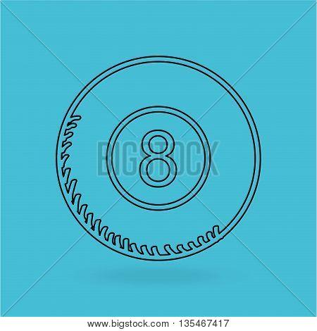 billiard ball design, vector illustration eps10 graphic