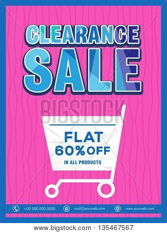 Elegant Clearance Sale Flyer, Flat 60% Discount Offer in All Products.