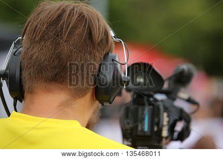 Cameraman At Work