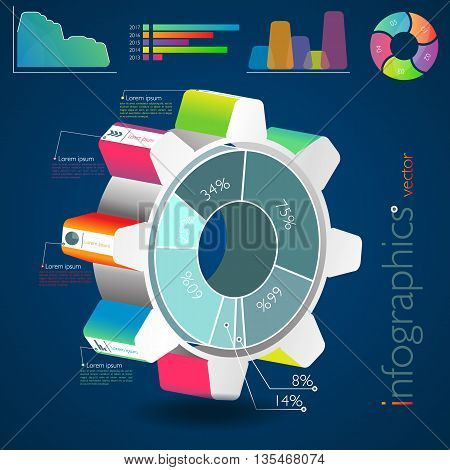 Vector Business Infographics. Can be used for workflow layout web design diagram number options step up options