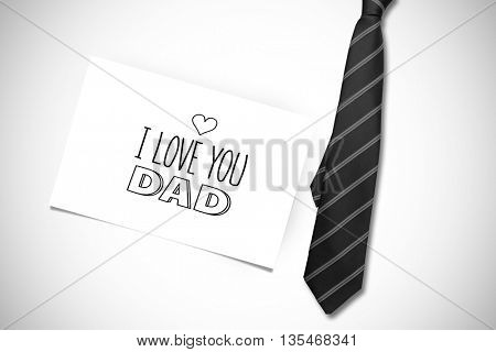 fathers day greeting against white card