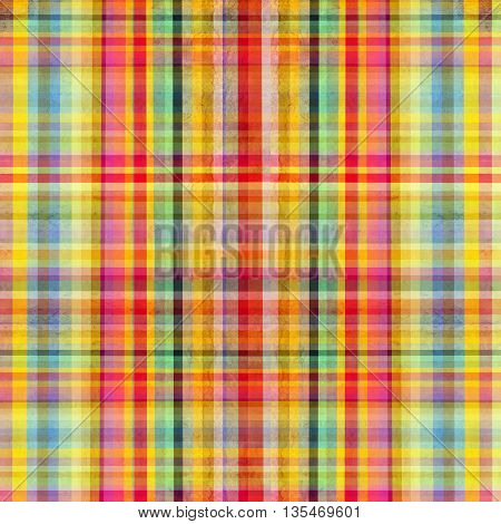 Colorful background of vector Scottish cloth in square composition