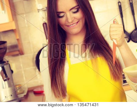 Attractive Woman Face Housewife Portrait