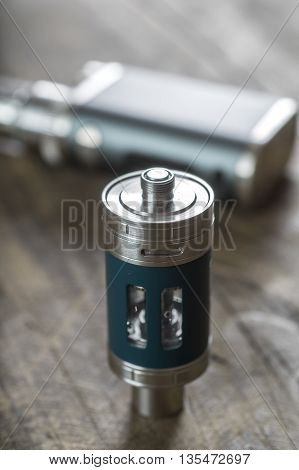 Advanced personal vaporizer or e-cigarette close up