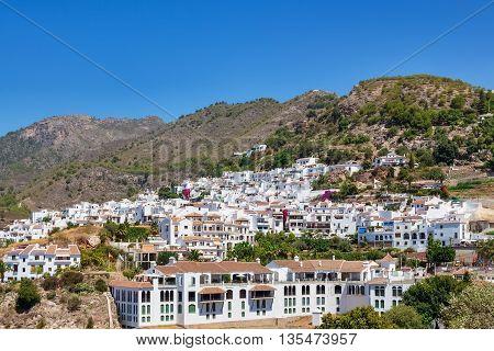 White houses of Frigiliana - Andalusia Spain.