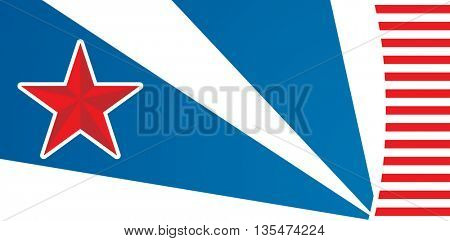 American flag design with copyspace