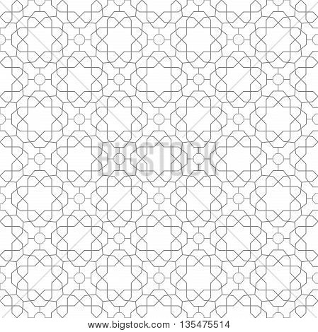 Seamless light silver ornament. Modern geometric pattern with repeating elements