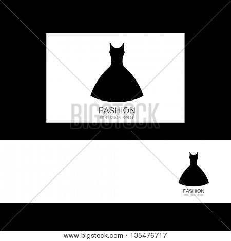 Concept identity presentation design for fashion shop, boutique, factory on tailoring, fashion show, dress shop, and etc. Vector graphic illustration.