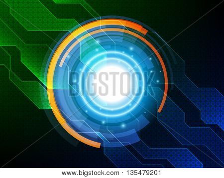 Abstract technology background, Hi-tech background design, Vector illustration