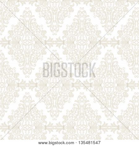 Vector Damask Pattern ornament Imperial style. Ornate floral element for fabric textile design wedding invitations greeting cards.