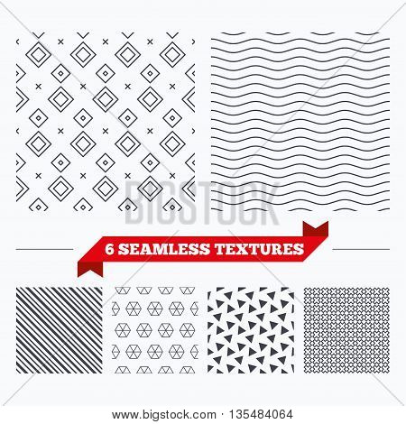Diagonal lines, waves and geometry design. Rhombus lines texture. Stripped geometric seamless pattern. Modern repeating stylish texture. Material patterns.