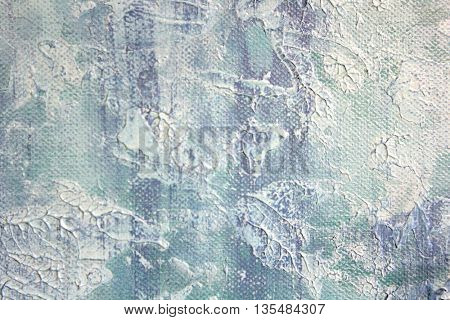 Macro Blue and White Paint Textures 7