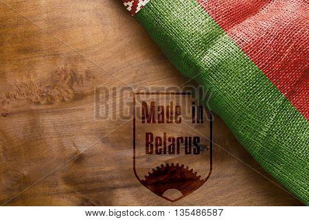 Banner - Made in Belarus Belarus National Flag.