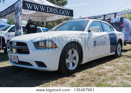 U.s. Customs And Border Protection Vehicle During Los Angeles American Heroes Air Show